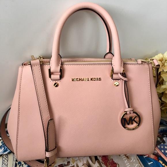 2f027f29809639 Michael Kors Bags   Soft Pink Small Sutton Satchel   Poshmark